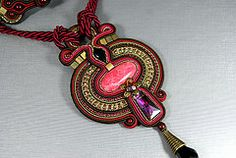 "Soutache Pendant ""Autumn"" (BeadsRainbow) Tags: pendant soutache"