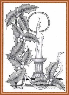 ©Simone Bischoff_Weihnachten04_05122012 draw, zentangl, bischoffweihnachten0405122012, color, doodl art, christangl, card, simon bischoff, christma