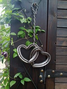 Love these heart-shaped horse shoes