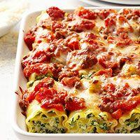BHG's Newest Recipes:Rolled Lasagna Florentine Recipe