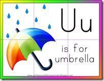 Letter U for Umbrella: Free Preschool Printables
