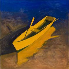 Kurt Solmssen. Yellow Boat Evening, 2009 oil on canvas