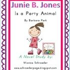 Junie B Jones Is A Party Animal Characters Skills: This novel stu...