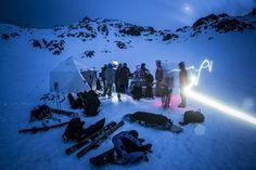 Nighttime ski Sierra Nevada Granada Spain