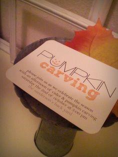 Fall party idea