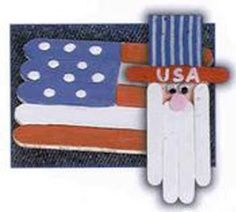 Uncle Sam popsicle stick craft
