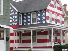 American flag house.
