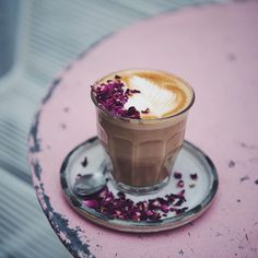 Rose latte at Farm G