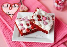 Red Velvet Marshmallow Bars
