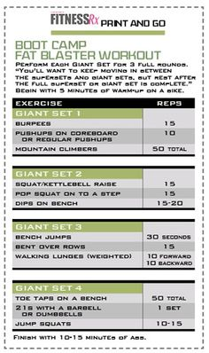Fat Blaster Workout