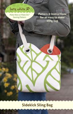 Sidekick Sling bag pattern by Betz White. Super cute!! Would be darling for AG dolls.
