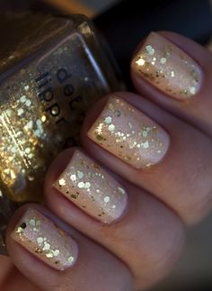 Nude with gold sparkle