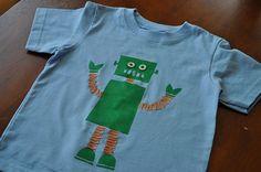 Robot t-shirt! rectangles, circles...
