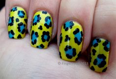 """Lemonous"" Leopard! by fingerfood - Nail Art Gallery nailartgallery.nailsmag.com by Nails Magazine www.nailsmag.com #nailart"