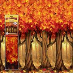 Fall Trees Scene Setter Room Roll from Windy City Novelties