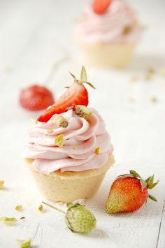 gluten free desserts, cupcake recipes, strawberri mouss, mouss cupcak, mini tartelett