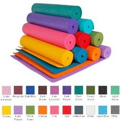 """YogaAccessories 1/4"""" Extra Thick Deluxe Yoga Mat"""