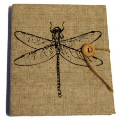 Printed Jute used as book cover