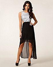 Jouline Cut Out Dress - Glamorous - Sølv/sort - Festkjoler - Tøj - NELLY.COM