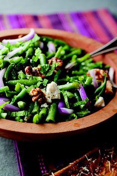 Green Bean, Walnut and Feta Salad