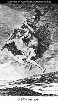 Caprichos  Plate 66  Up They Go - Francisco De Goya y Lucientes - www.franciscodegoya.net