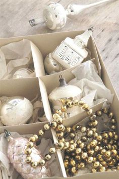 Old Christmas glass baubles