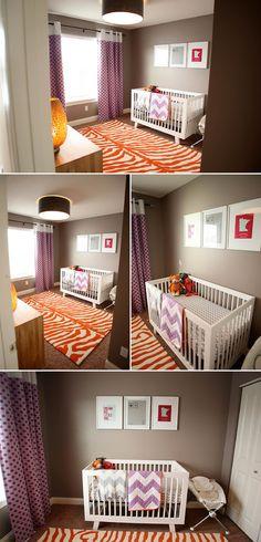 Colorful Nursery - Orange and Plum