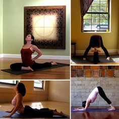 Post natal yoga for tight hips, tense shoulders and sore lower back.