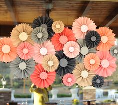 Make It Now with Cricut Explore - Amazing Rosette Party Backdrop