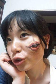 Super Creepy Face Paintings