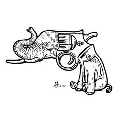 Day 14 of #Inktober 2014 by #GIGART. Hey, who are you calling Dumbo? You talking to me? I know you are not talking to me!?