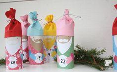 Very cute DIY toilet roll advent calendar #diy #craft #christmas