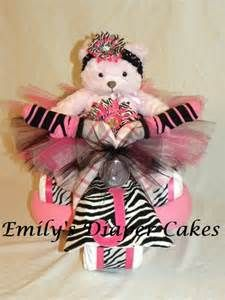 Diaper Cakes By Emily Hot Pink And Zebra Tricycle