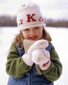 Add a monogram to plain winter hats, mittens, and other items with a simple technique called needle felting.