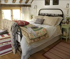 Cozy, country bed