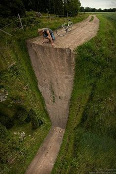 Erik Johansson altered photography dream, new adventures, bicycl, inspiring photography, art, photo manipulation, path, strange places, the road