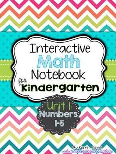 Interactive Math Notebook for Kindergarten! {Unit 1: Numbers 1-5}  My kids LOVE their math notebook! $