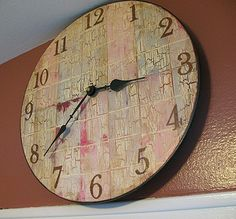 chips, idea, craft, paintchip, chip clock, paints, diy, clocks, paint chip