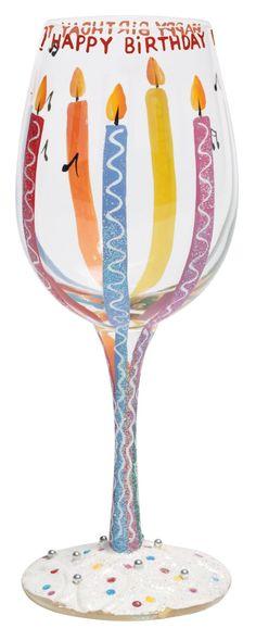 anniversary wine glasses hand painted | Hand Painted Glass: Wine Glasses