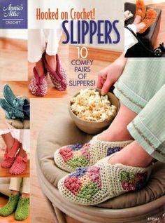 Zapatillas hook, craft, pattern, crochet slippers, anni attic, book, knit, crochet accessories, christmas ideas