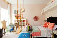 swing, kid room, bedroom