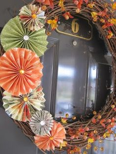 'papercrafting included' autumn wreath