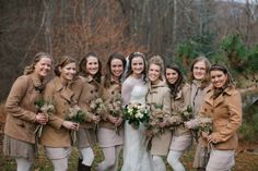 Bridesmaids In Jackets