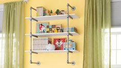 You can make this pipe-frame wall shelf in minutes.