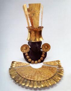 Culture - Chimu  Date - 850-1470 c.e.  Period - Late Intermediate Period  Region - Coastal Peru  Materials - Gold  Repository - Museo Arquelogico Rafael Larco Herrera. Lima, Peru.