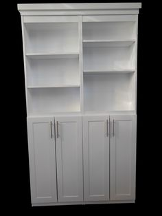 4' Murphy Door in 3/4 HDF Painted in white with Lower Cabinet Doors.  Available at Rockler.com, CS Hardware, Lee Valley and Amazon.com, Soon to be found at Menards and Lowes