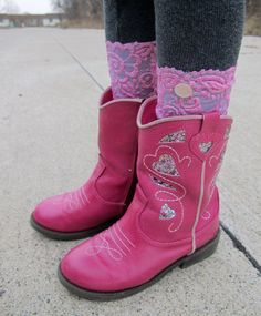 Child Lace Boot Cuffs. $12.00, via Etsy.