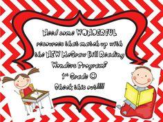 1st Grade McGraw Hill Reading Wonders Resources...WONDERFUL