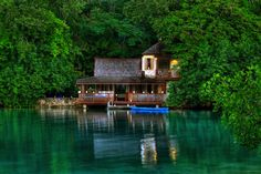 The Golden Eye Resort by water reflections, Jamaica