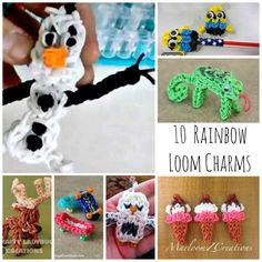 Rainbow Loom Charms for Boys & Girls. Here are some AWESOME designs, with great videos.
